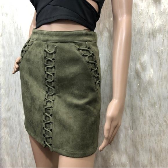 LF Dresses & Skirts - LF Seek the label Suede Mini Skirt. XS